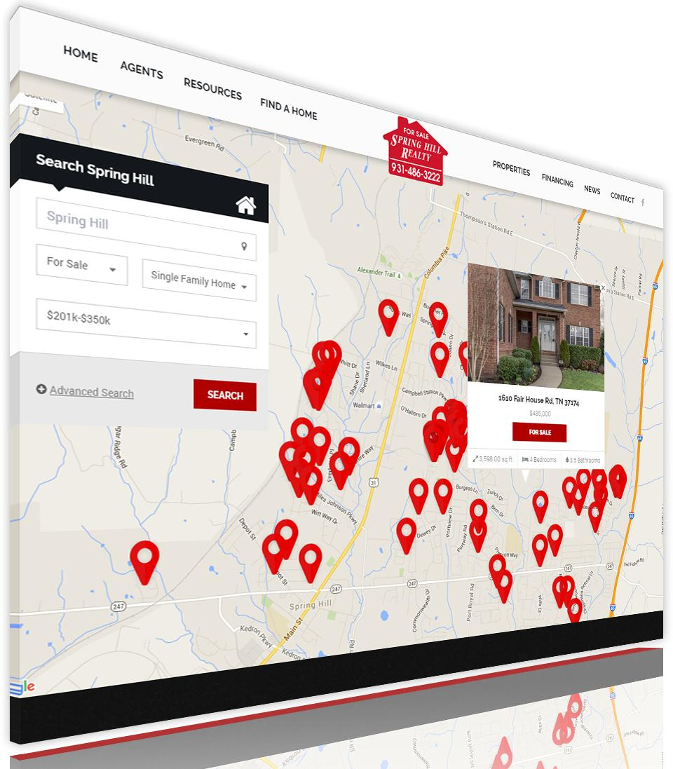 Spring Hill Realty Launches New Website